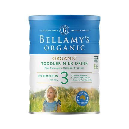 澳洲贝拉米有机婴幼儿配方千亿国际娱乐网站Bellamys  3段(1岁以上)900g/罐